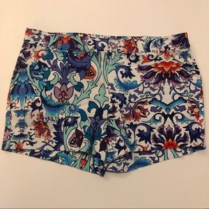 Nicole Miller Colorful Abstract Shorts Women's 8